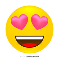 Love Smiley Free Vector by 123freevectors