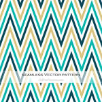 Colorful Zigzag Seamless Pattern Free Vector