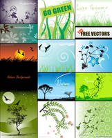 Nature Backgrounds Vector Pack Free by 123freevectors