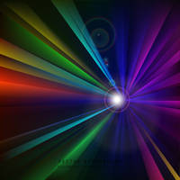 Colorful Light Burst Background Free Vector by 123freevectors