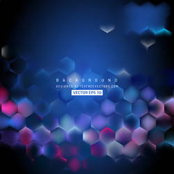 Navy Blue Hexagon Background Free Vector by 123freevectors