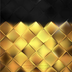 Black Gold Square Background Free Vector by 123freevectors