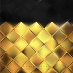 Black Gold Square Background Free Vector