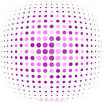 Pink Halftone Background Free Vector