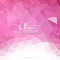 Pink Polygonal Triangular Background Free Vector by 123freevectors