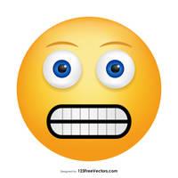 Grimacing Face Emoji Free Vector