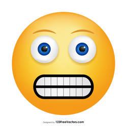 Grimacing Face Emoji Free Vector by 123freevectors