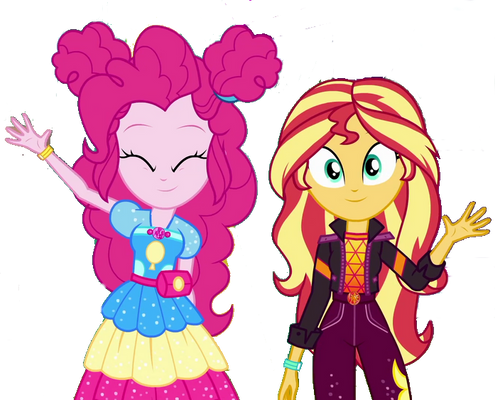Pinkie Pie and Sunset Shimmer says Goodbye!