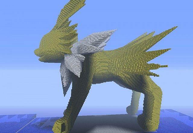 3d Jolteon Minecraft By 1999misscreator On Deviantart