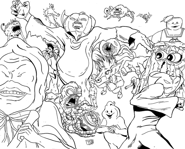 ghostbuster coloring pages - ghostbusters villains inked by tsilvers on deviantart