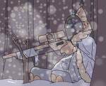 Sniper In The Snow