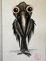 Crow Painting by S4MMY4RT