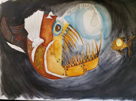 Steampunk Anglerfish W.I.P 2 by S4MMY4RT