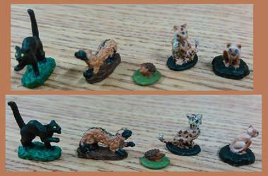 DnD Familiers Four Legged Animals by XashiGraveyard
