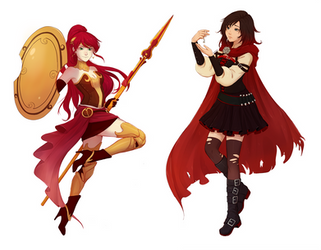 Commission: Ruby Rose and Pyrrha Nikos by nymre