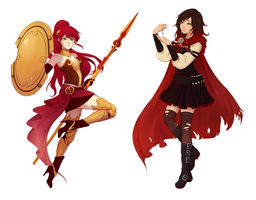 Ruby Rose R W B Y 1 Mod Preview: RWBY Favourites By HUTATU On DeviantArt