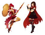 Commission: Ruby Rose and Pyrrha Nikos
