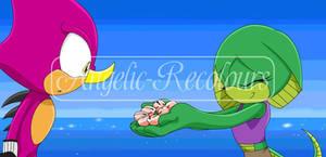 Espio + Vespa The Lizard [ Sonic x Request ]