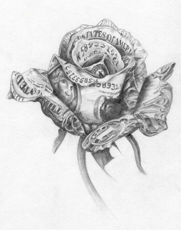 money rose sketch by killustrate on DeviantArt - photo#18