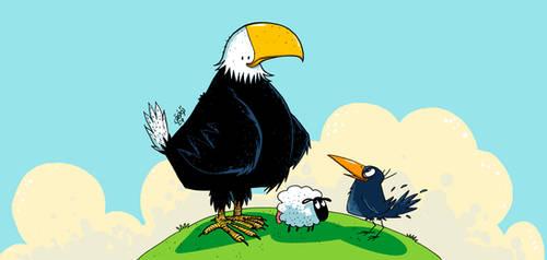 Eagle . Sheep . Crow by tawfi2
