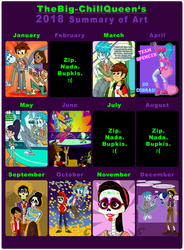 2018 Summary of Art by TheBig-ChillQueen