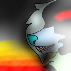 The Burning Fire - SpeedPaint by HoneyTheWingedWolf