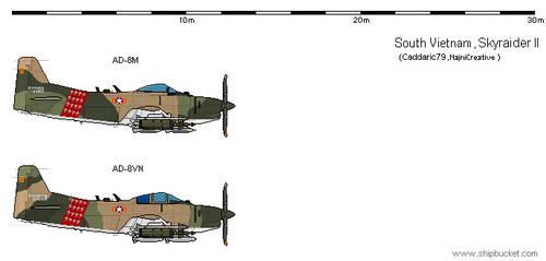 AU VNAF AD-8M/VN Skyraider II by NajmiCreative