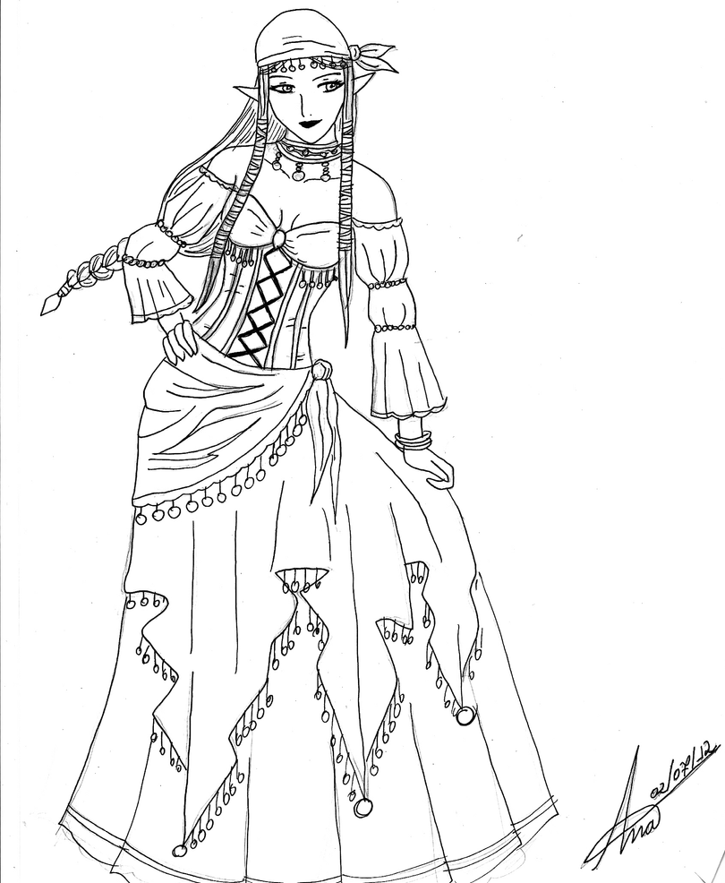 gypsy coloring pages | Gypsy Caravan Coloring Pages Coloring Pages