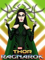 Hela - Goddess of Death Poster by AnaPaulaDBZ