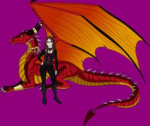 The Dragoness and the Vampire (B-day gift 2019) by AnaPaulaDBZ