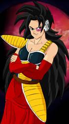 DBM - Hanasia, mother of Kakarot and Raditz by AnaPaulaDBZ
