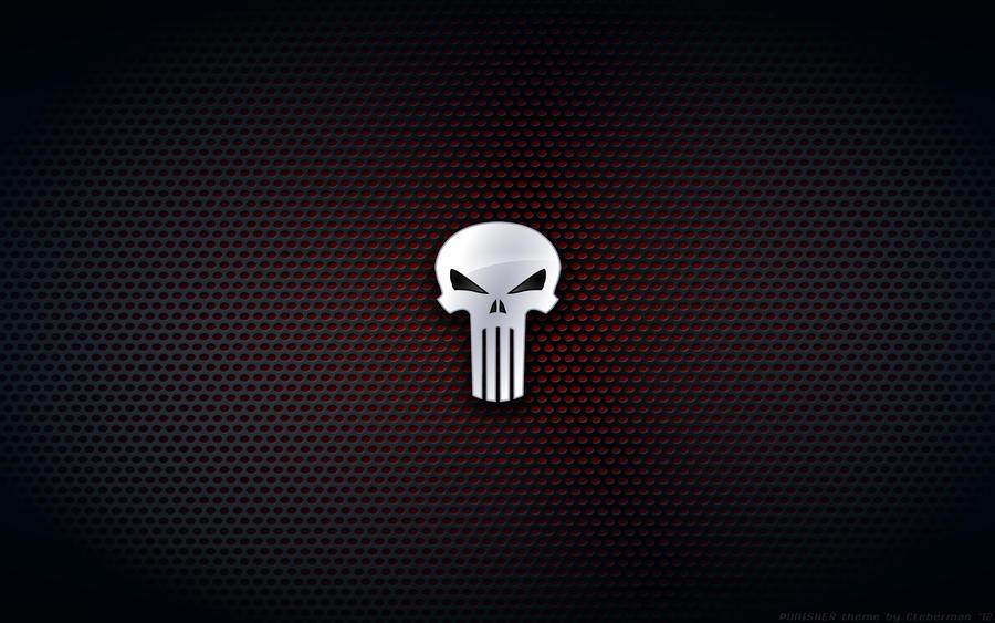 Wallpaper - Punisher Comix  N Logo Wallpaper