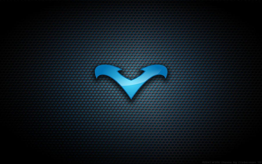 Wallpaper - Nightwing Blue Logo by Kalangozilla on DeviantArt