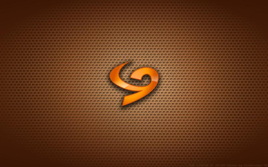 wallpaper the legend of zelda deku shield logo by