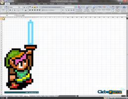 PixelArt - Link '16-bits' on Excel