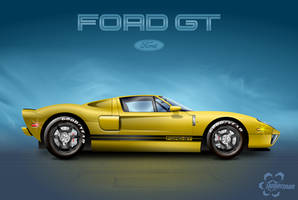 Vectorized 'Ford GT' Model 2005