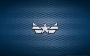 Wallpaper - Captain America 'New Costume' Logo by Kalangozilla