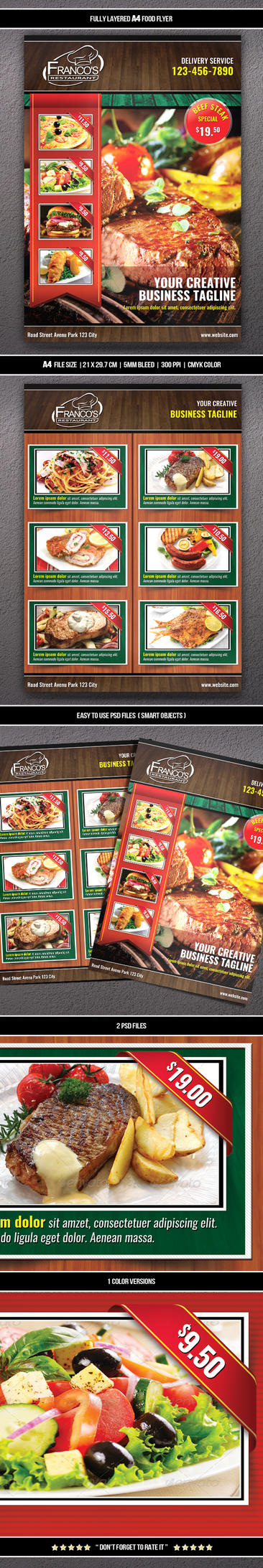 Food Flyer 7 (A4) by Mograsol