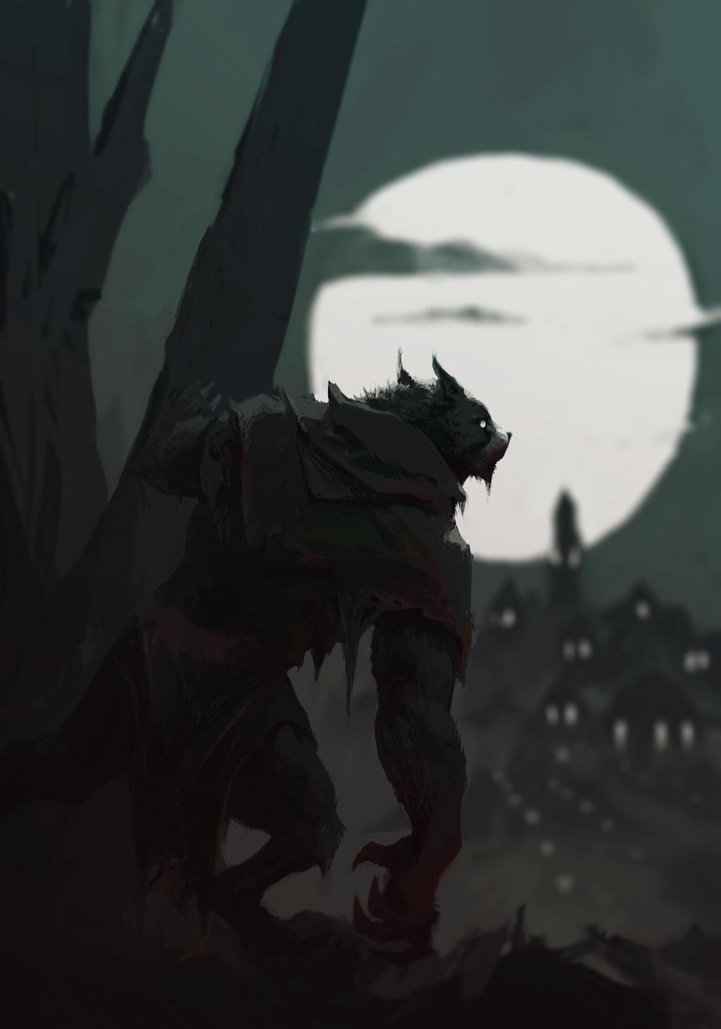 Wolf Dude by KewinArt