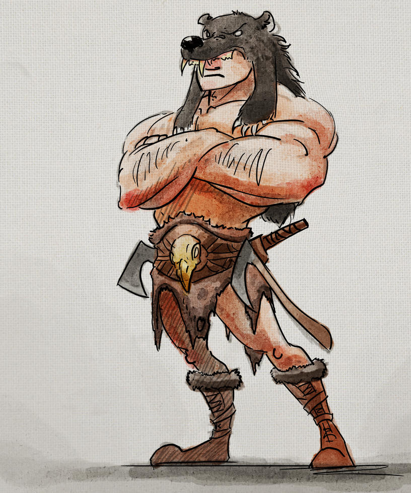 Bearskin Dude by KewinArt
