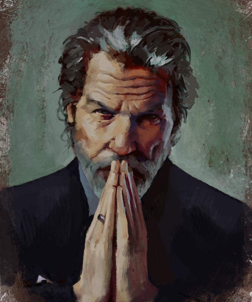 Jeff bridges portrait by KewinArt