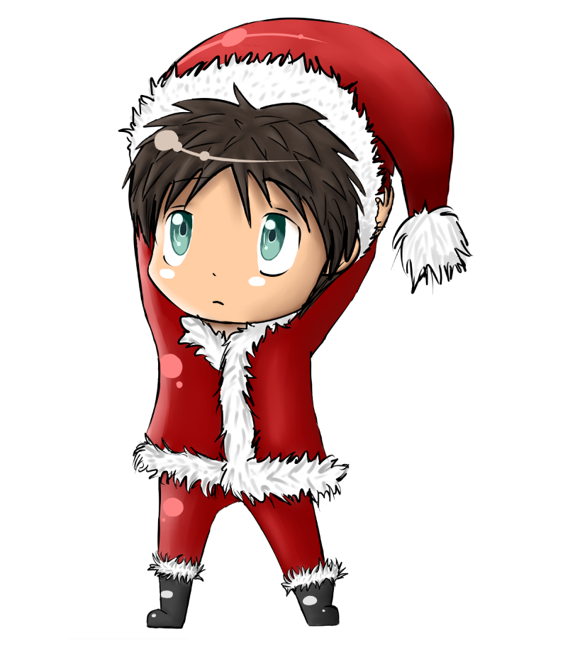 Christmas anime chibi