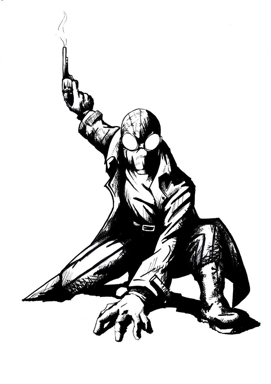 Spiderman Noir by robmarin on DeviantArt