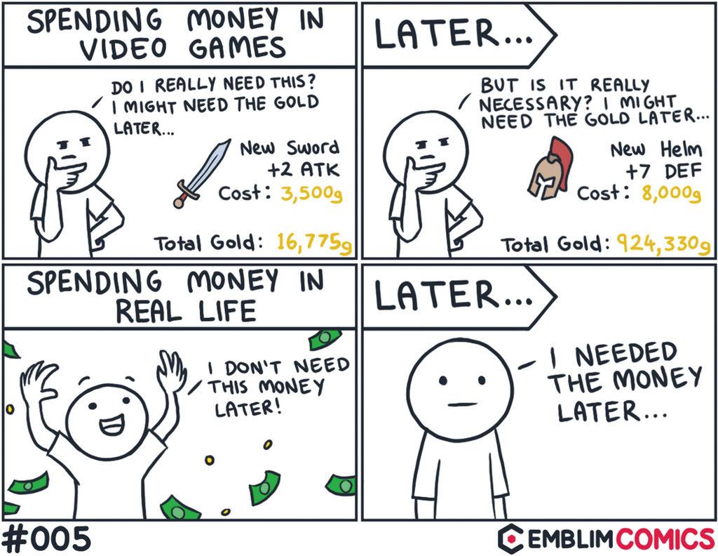 Spending money in video games vs real life