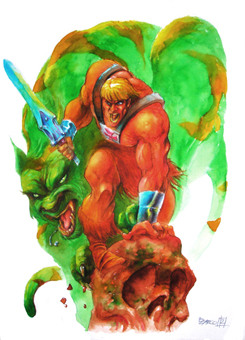 He-Man and Battle Cat by PacoZarco