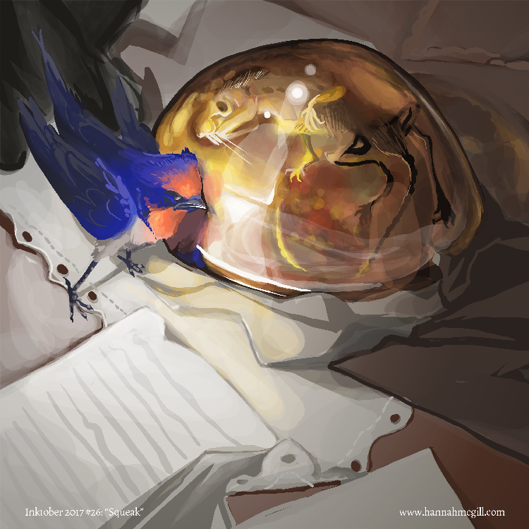 Inktober 26 - Squeak by hannahmcgill