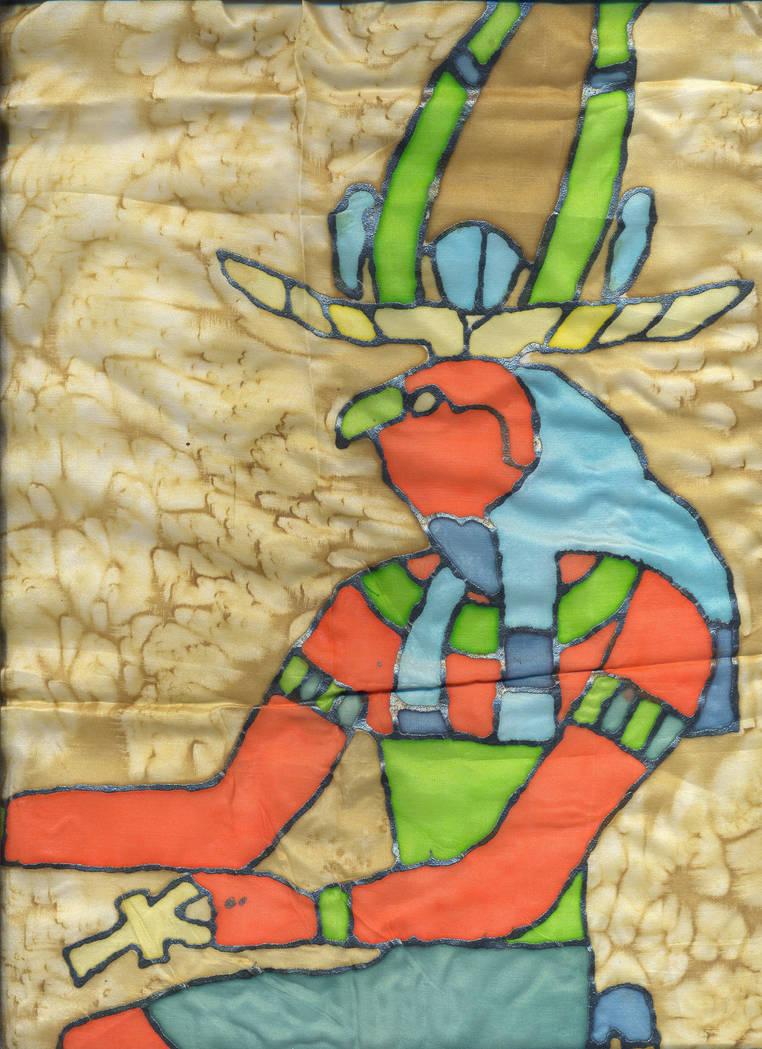 Horus, sitting on his Throne by Malintra-Shadowmoon