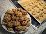 Peanutbutter Chocolate Cookies