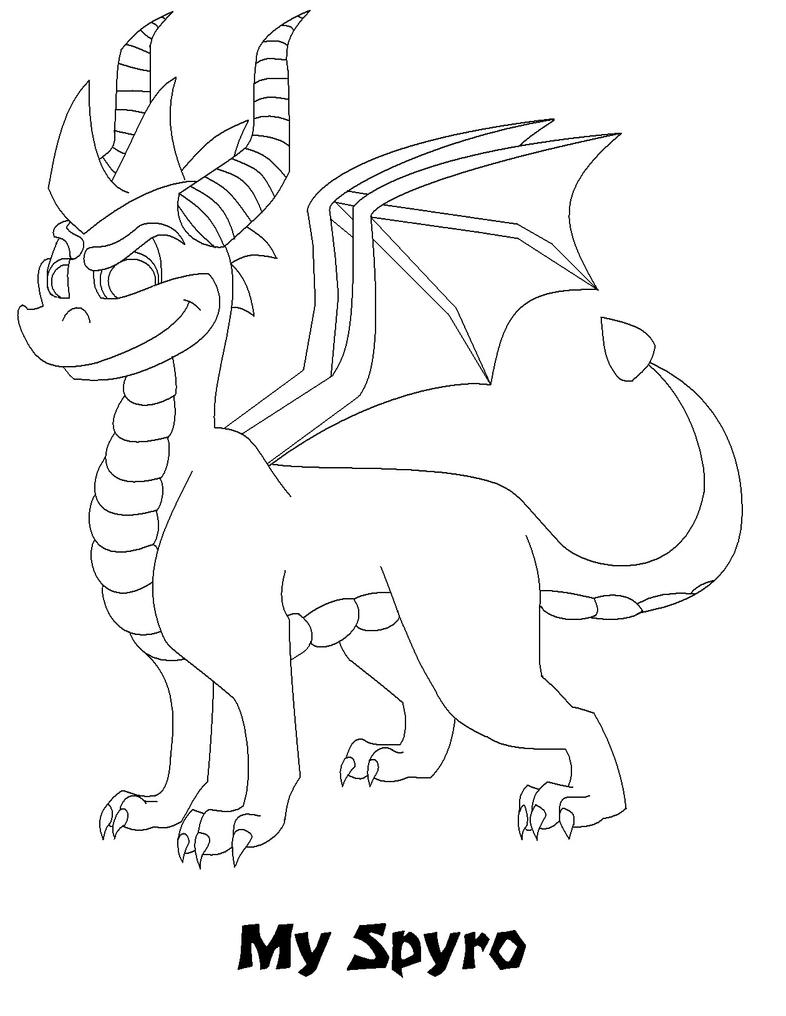 Spyro The Dragon Free Colouring Pages Spyro Coloring Pages