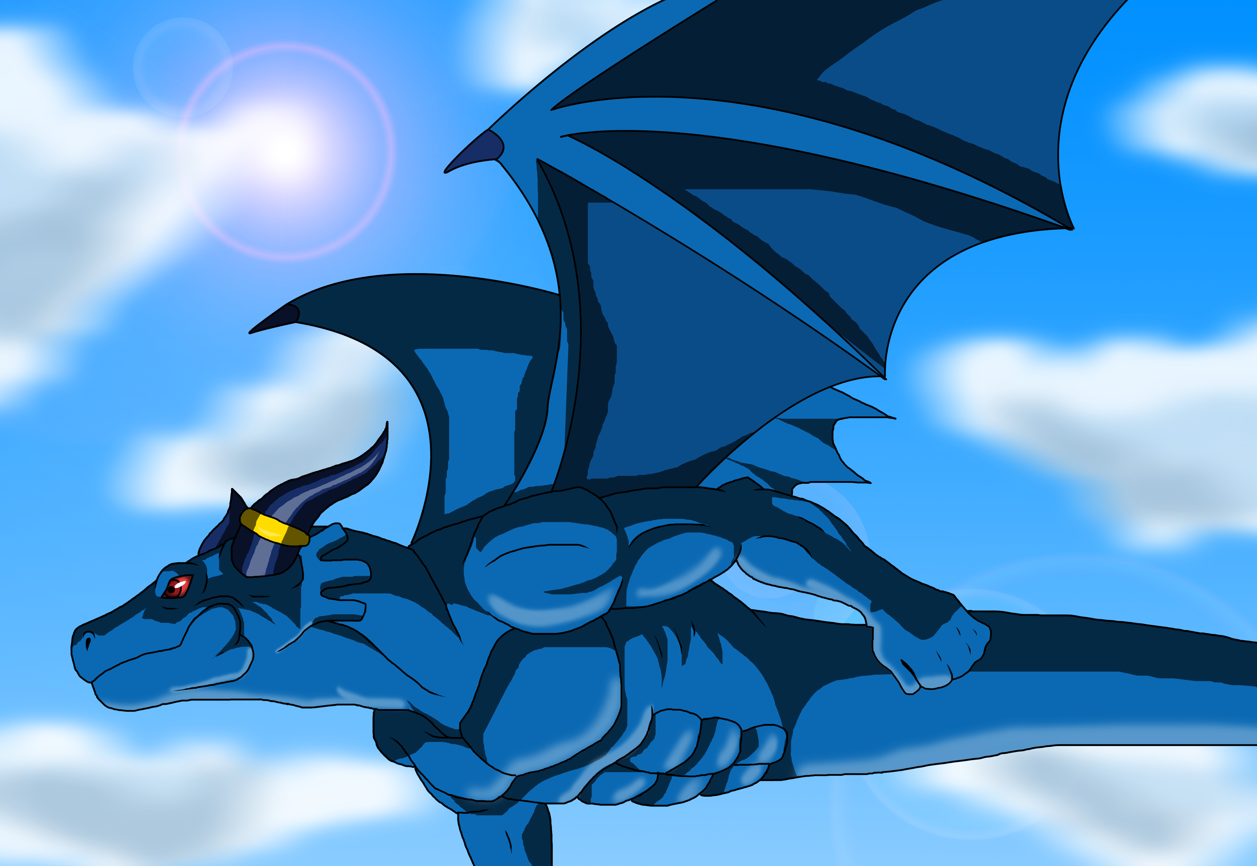 Blue Dragon Anime: Blue Dragon Flight By KyuubiCore On DeviantArt